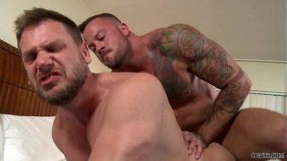 Sean Duran and Hans Berlin having bareback anal sex