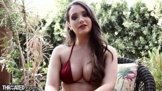 Throated Gia Paige Wants Balls in Mouth and Dick Deep Down!