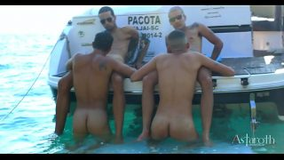 Sex on the Beach! Four horny young guys go on a speedboat ride visiting the astonishing islands of Cabo Frio. Horny in this unique settring and amazing setting they embark in wild and hard sex!!! P1. Continues Xvideos RED